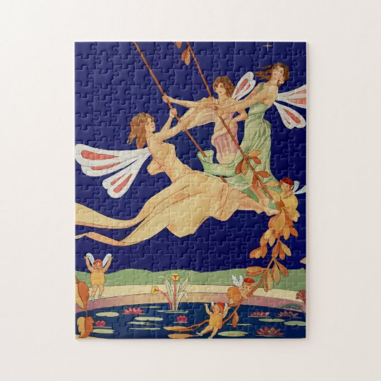 """""""Fairies Swing"""" Jigsaw Puzzle with Box"""
