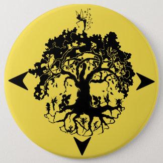 Fairies Tree Round Button