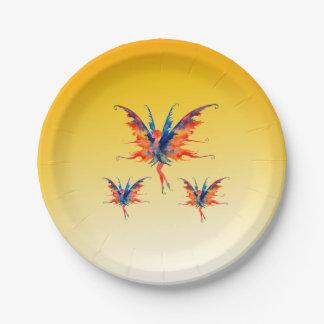 Fairies Wings Custom Paper Plates 7 in