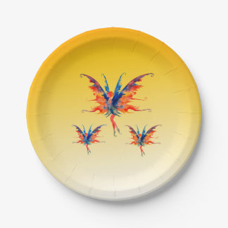 Fairies Wings Custom Paper Plates 7 in 7 Inch Paper Plate