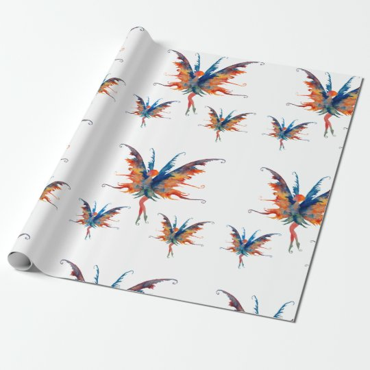 Fairies Wings Matte Wrapping Paper