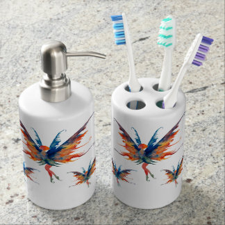 Fairies Wings Toothbrush Holder Soap Dispenser Set