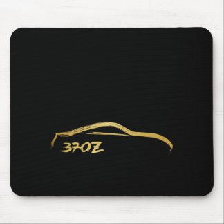 Fairlady 370z Gold Brush Stroke Logo Mouse Pad