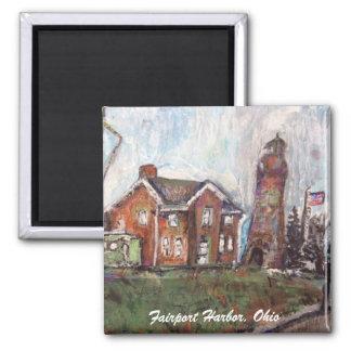 Fairport Harbor, Ohio painting magnet