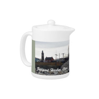 Fairport Harbor, Ohio Photo Tea Pot