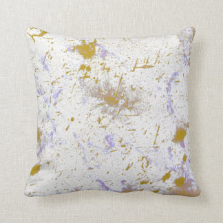Fairview Splatter Throw Pillow in Lavender & Yello