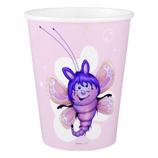 FAIRY 3 CUTE BUTTERFLY ALIEN CARTOON PAPER CUP