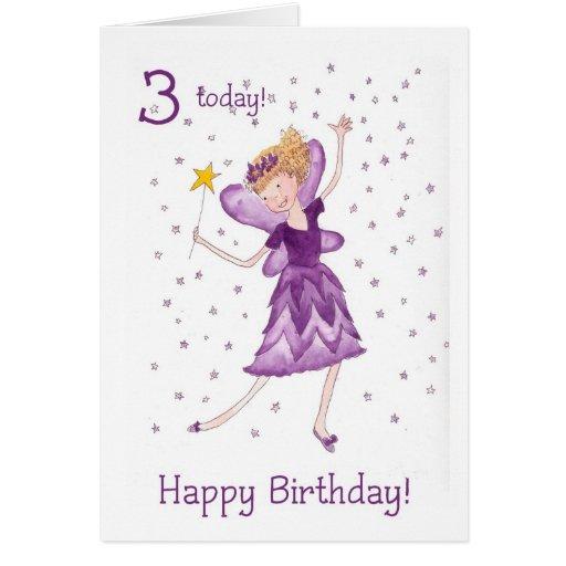 Fairy 3rd Birthday Card