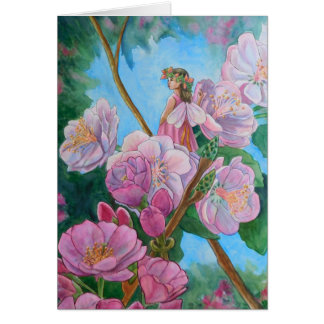 Fairy Amongst the Cherry Blossoms Card