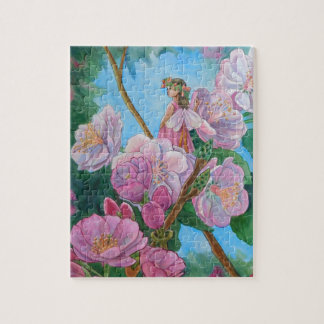 Fairy Amongst the Cherry Blossoms Jigsaw Puzzle