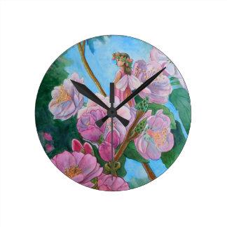 Fairy Amongst the Cherry Blossoms Wallclock