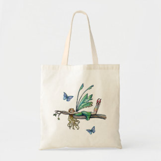 Fairy and Butterfly Budget Tote Bag