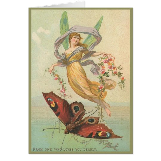 Fairy and Butterfly in the Sky Greeting Card