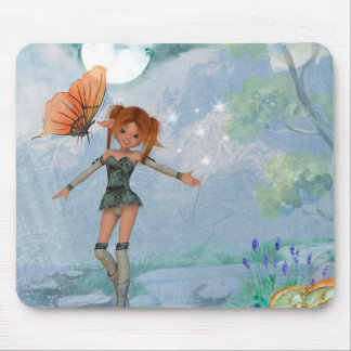 Fairy and Butterfly Mouse Pad