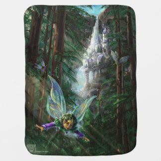 Fairy and Castles Fantasy Art Baby Blanket