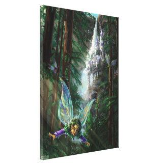 Fairy and Castles Fantasy Art Canvas Print