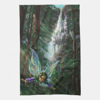 Fairy and Castles Fantasy Art Kitchen Towel