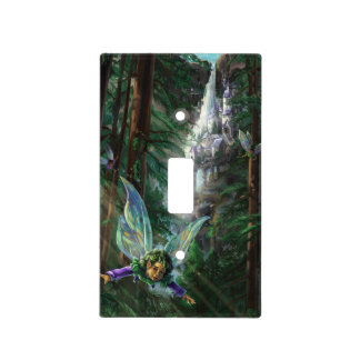 Fairy and Castles Fantasy Art Light Switch Cover