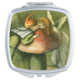 Fairy and Elf Sneaking a Kiss, Makeup Mirrors