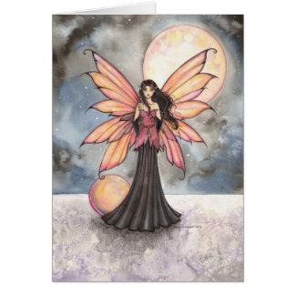 Fairy and Full Moon Fantasy Art Card