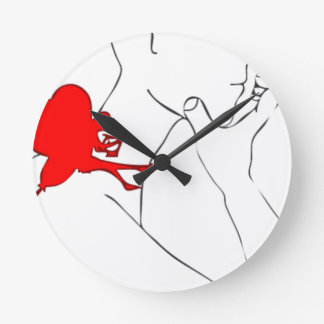 Fairy and I Round Clock