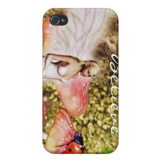 Fairy and the lady bug iPhone 4 case