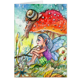 Fairy and the Snail Card