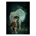 Fairy and Unicorn Magic Poster
