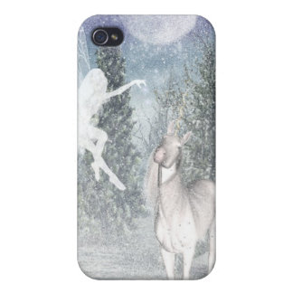 Fairy and unicorn snow iPhone case iPhone 4 Covers