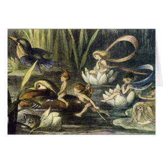Fairy and Waterlily Print by Richard Doyle Card