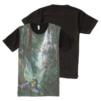 Fairy and Yosemite Falls Castle All-Over-Print T-Shirt