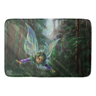 Fairy and Yosemite Falls Castle Bath Mat