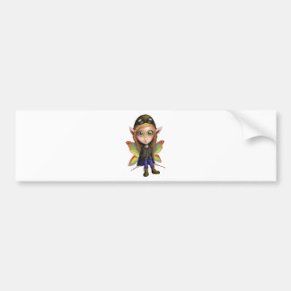 Fairy Aviator Bumper Sticker