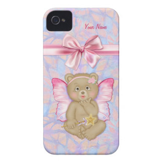 Fairy Bear Kiss Fantasy iPhone 4 Case-Mate Case