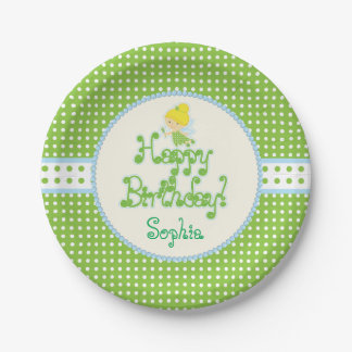 Fairy Birthday Party Plates 7 Inch Paper Plate