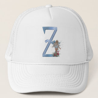 Fairy Blue Monogram Z Trucker Hat