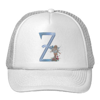 Fairy Blue Monogram Z Trucker Hat