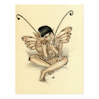 Fairy Boy Bunny Postcard