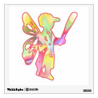 Fairy Boy Playing Baseball Wall Sticker