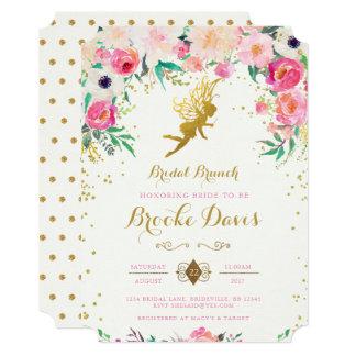 Fairy Bridal Shower Invitation