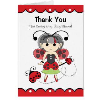 Fairy Bug Thank You for Coming to my Baby Shower Card