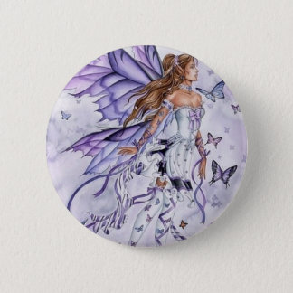 fairy butterfly 2 inch round button
