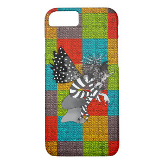 Fairy Butterfly Cartoon Checkered Colorful Bright Case-Mate iPhone Case