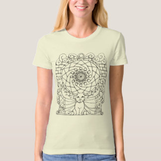 Fairy Cat and Rose Window T-Shirt