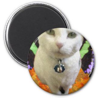 Fairy Cat Round Magnet