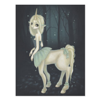 fairy centaur forest post card