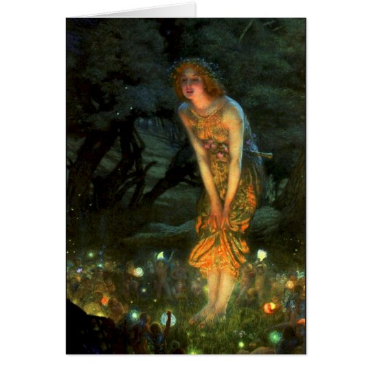 Fairy Circle Fairies Midsummer Eve Card