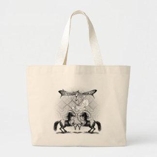Fairy Collage Design Large Tote Bag