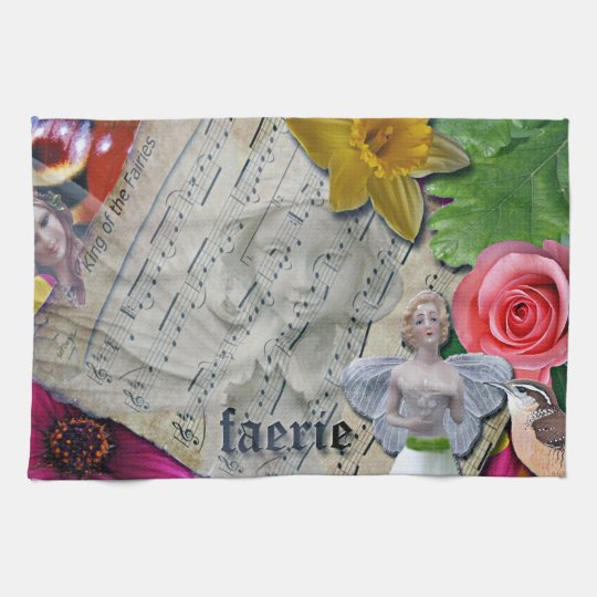 Fairy Collage, Kitchen Towel, Hand Towels