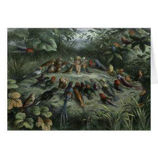 Fairy Conducts Songbirds, Card